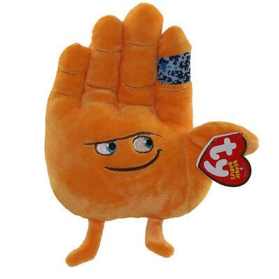 """TY Beanie Baby 6"""" HI 5 the Emoji Movie Plush Stuffed Animal Toy w/ Ty Heart Tags"""