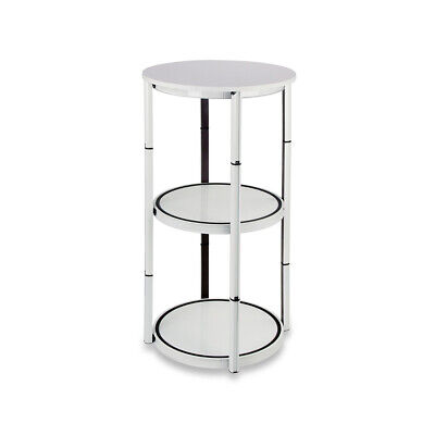 41.7 Round Portable Aluminum Spiral Counter Display Case Shelves Clear Panels