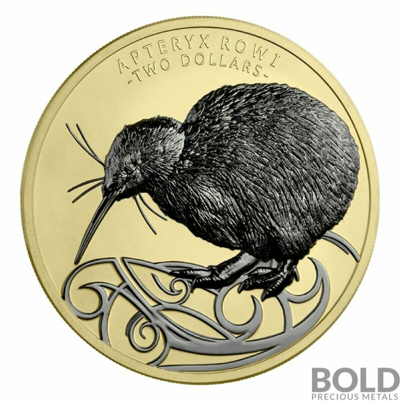 2020 New Zealand Kiwi 2 oz Silver High Relief Limited Edition