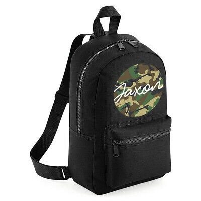 Personalised Boys Backpack Any Name Army Camouflage Unisex Kids School Bag #BP1