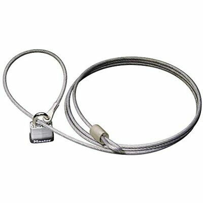 Master Lock 715DAT Braided Steel Car Cover Cable With Laminated Padlock, Ft And