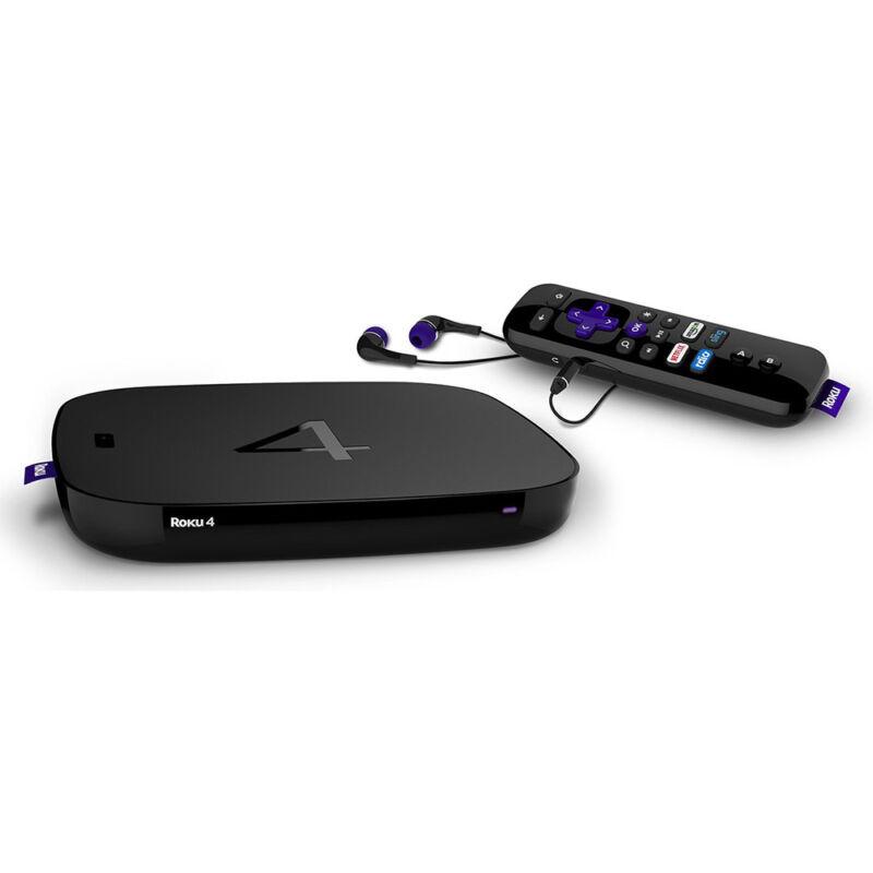 Roku 4 Streaming Media Player Black 4400R
