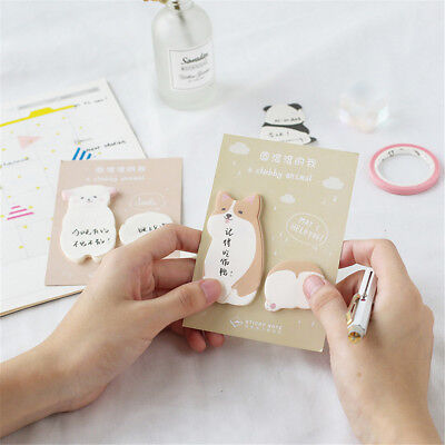 Cute Animal Memo Pad Sticky Notes Paper Sticker Notepad Kawaii Stationery 2Pcs Note Memo Pad Notepad