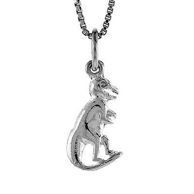 Small Pendant Box - Sterling Silver Small T Rex Dinosaur Pendant / Charm, 18