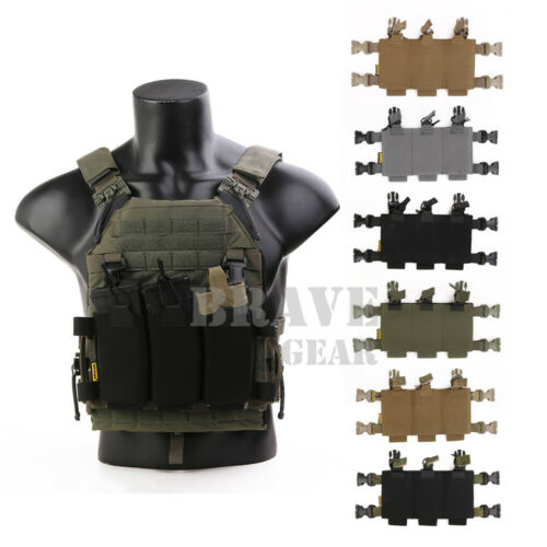 Emerson Plate Carrier Chest Rig Swift Clip Placard Triple 5.56 Magazine Pouch
