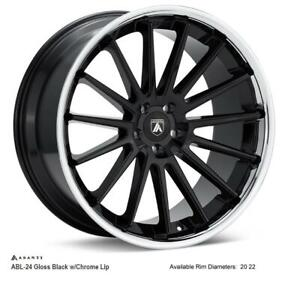 asanti wheels ABL-24 (Gloss Black w Chrome Lip)