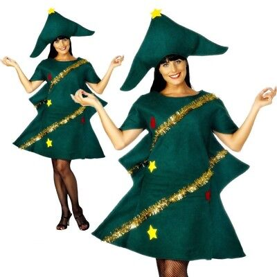 Adult Christmas Tree Costume Ladies Novelty Xmas Tree Fancy Dress Outfit New (Tree Dress Up Costume)