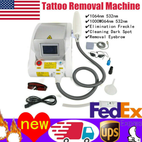 Best NEW LASER Q SWITCH TATTOO REMOVAL ND YAG EYEBROW PIGMENTS REMOVAL MACHINE 110V NEW