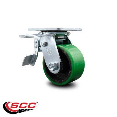 4 Poly On Cast Iron Caster - Swivel Wtotal Lock Brake - Scc