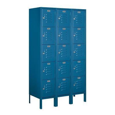 Salsbury 65355bl-u Five Tier Box Style Unassembled Standard Metal Locker In Blue