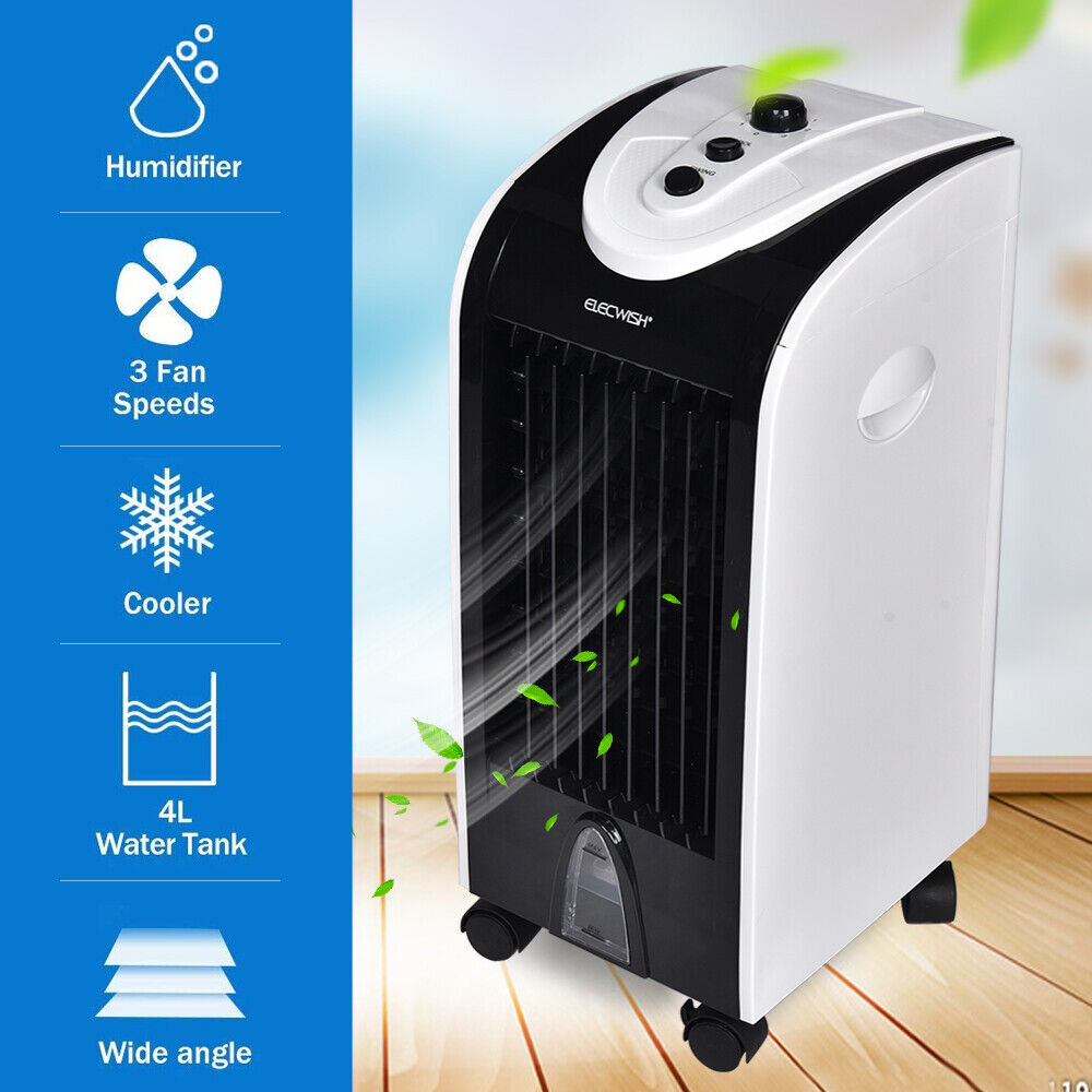 Mini Air Conditioning Evaporative Cooling Fan Portable Humidifiers Purifier Home