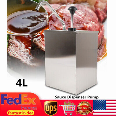 4l Stainless Condiment Dispenser Sauce Dispenser Pump For Restaurant Catering Us