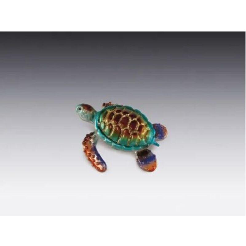 Glass Sea Turtle Figurine