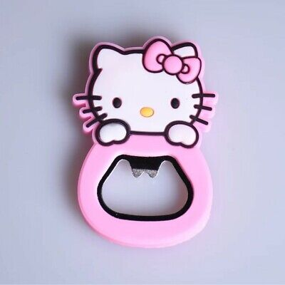 Hello Kitty Pink Multipurpose Bottle Opener Fridge Magnet