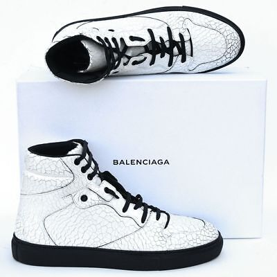 BALENCIAGA New sz 44 - 11 Authentic High Top Designer Mens Sneakers Shoes white