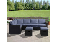 Rattan Garden Furniture Set 8 Seater(Multiple colours available)