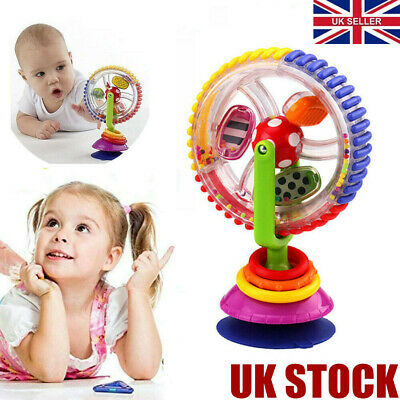 Baby Kid Infant Toys Rainbow Ferris Wheel Rattle Clanking Suction High Chair...