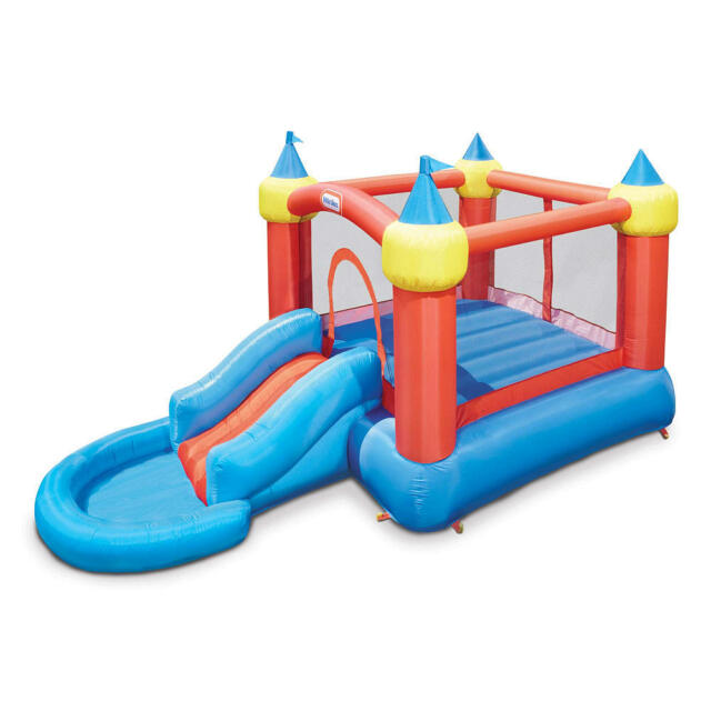 little tikes inflatable jump bounce castle ball pit slide blower pump included - Inflatable Bounce House