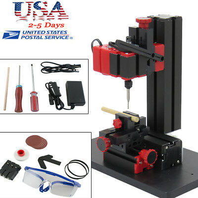 6in1 Mini Wood Metal Motorized Lathe Machine Woodworking Hobby Diy Tool 100-240v