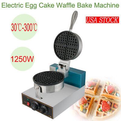 30℃-300℃ Electric Egg Cake Oven Puff Bread Machine Waffle Bake Maker USA STOCK