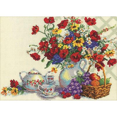 Rto Cross Stitch Kit    Tea Pary In The Garden