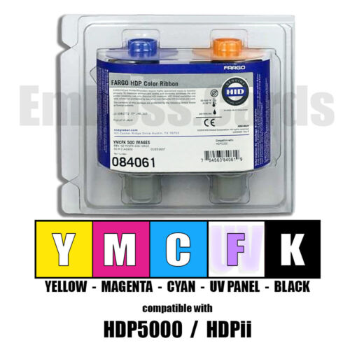 Fargo 84061 084061 YMCFK Color UV Ribbon 500 Images HDPii HDP5000 754563840619