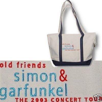 SIMON & GARFUNKEL! 2003 TOUR EMBROIDERED TOTE BAG NEW