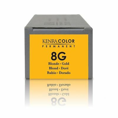 KENRA Permanent Hair Colour Blonde Gold 8G, 85ml New & Boxed