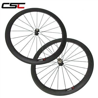 Csc 25Mm Width U Shape 50Mm Clincher Carbon Bike Wheelset Sat Carbon Road Wheels