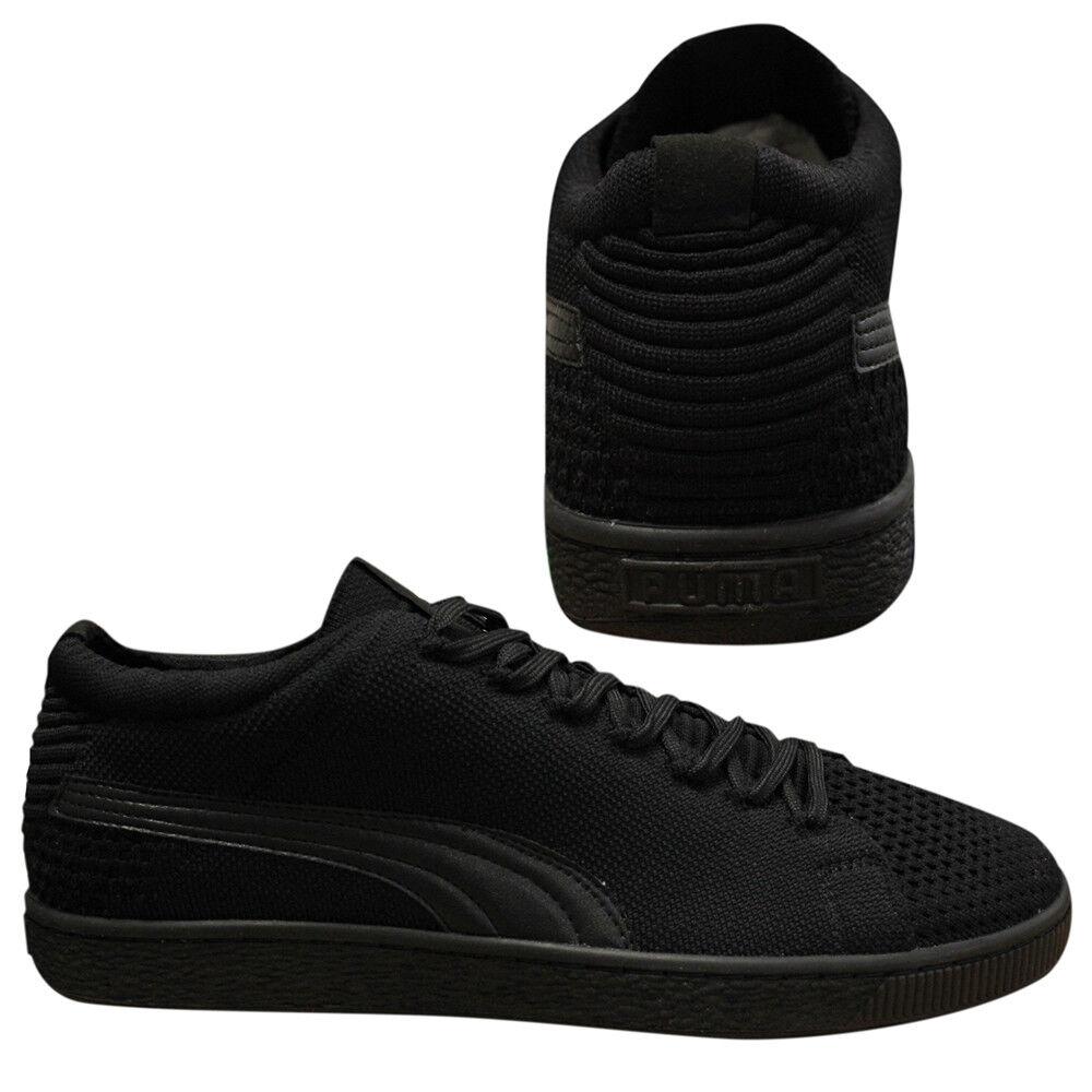 various colors e5dd7 7e7b9 Details about Puma Basket Evoknit 3D Lace Up Black Mens Textile Trainers  363650 03 Q2