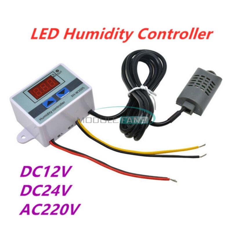Digital LED Humidity Controller W3005 Hygrometer Switch Sensor 12V 24V 110-220V