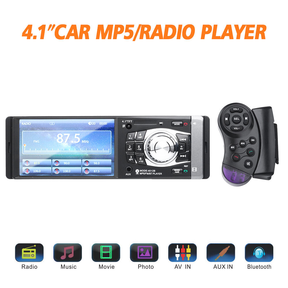 $41.99 - Bluetooth Car Radio Audio MP5 Player Stereo 12V FM/Aux/USB W/Remote Single DIN