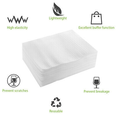 100pcs Foam Wraps Pouches Epe Dishes Porcelain Sheet Packing Shipping Bags