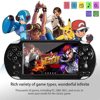 128 Bit 8GB X9 Handheld Game Console Video MP4 MP5 Player Support 10000 game US (Mp5 Game Console)