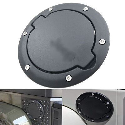 US Black Car Fuel Filler Door Cover Gas Tank Cap For Jeep Wrangler JK Unlimited