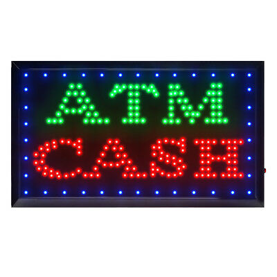 - Large Animated CASH ATM LED Neon Sign Bright Shop Store 22