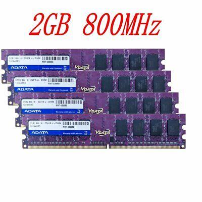 8GB 4x 2GB DDR2 800Mhz PC2-6400U CL6 NON ECC Desktop kit Memory...