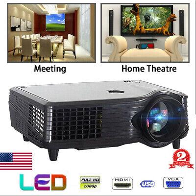 3D VS-508 Projector Full HD 1080P LED LCD HDMI Theater Cinema 5000 Lumens WW