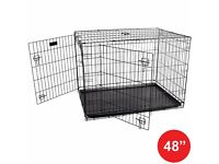 Pet dog cage crate foldable carry transport carrier