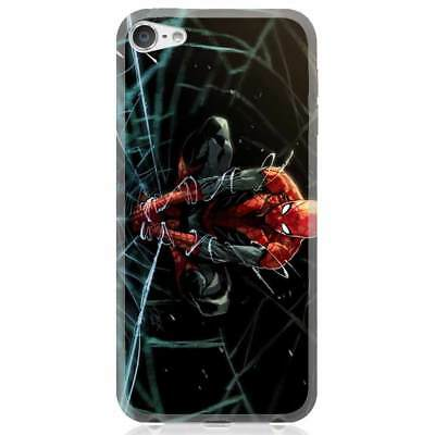 Apple iPhone 6/6S/6 Plus/7/7 Plus/8/8 Plus/X Case Cover Spiderman Web Drawing