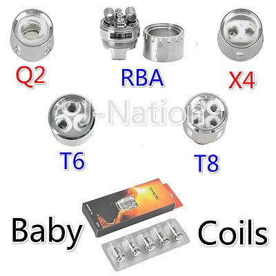 Baby Smok Tfv8 Big Cloud Beast Replacement Coil V8   Q2 X4 T6 T8 Rba   Usa Ship