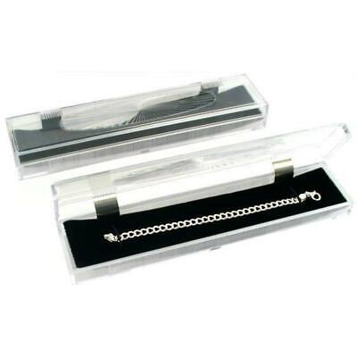 2 Clear Crystal Bracelet Gift Boxes 8 78