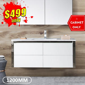*NEW ARRIVAL* Bathroom Vanity 1200mm Cabinet Ceramic Finger Pull DEENA