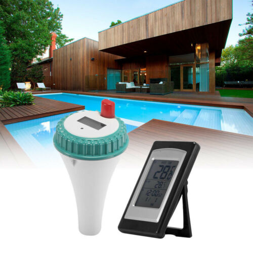Digitales Teich Poolthermometer Wasser mit LCD Funk Empfänger 100m Thermometer