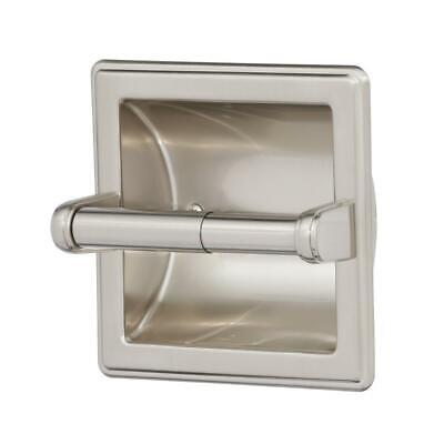 Franklin Brass Recessed Toilet Paper Holder with Beveled Edges in Satin Nickel ()