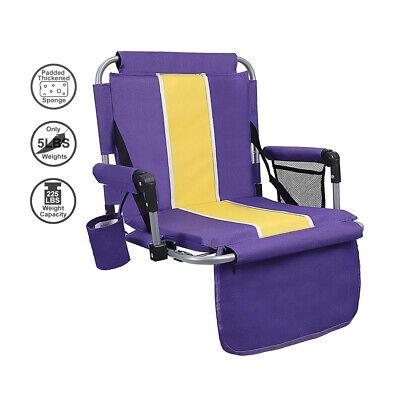 ALPHA CAMP Thickened Folding Stadium Seat Cushion Chair for Bleachers  Folding Stadium Chairs