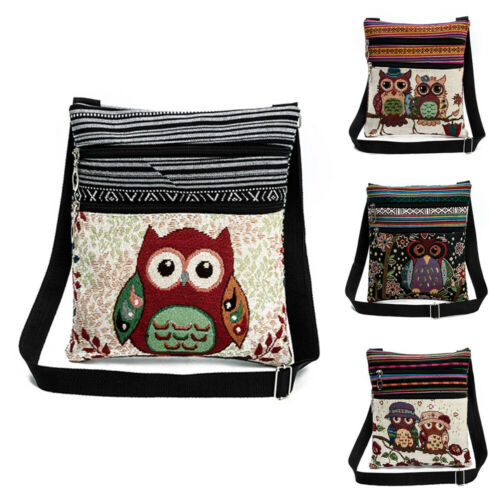 Women Owl Messenger Bag Crossbody Shoulder Bag Satchel Purse