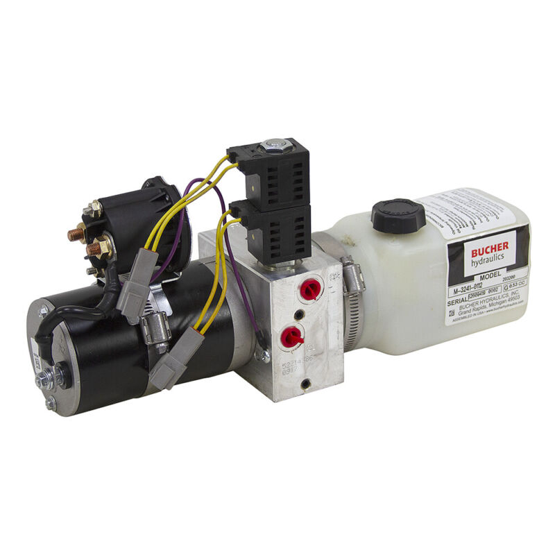 12 Volt DC 0.48 GPM 3000 PSI Bucher DA Power Unit 0.13 Gallon Tank 9-12815