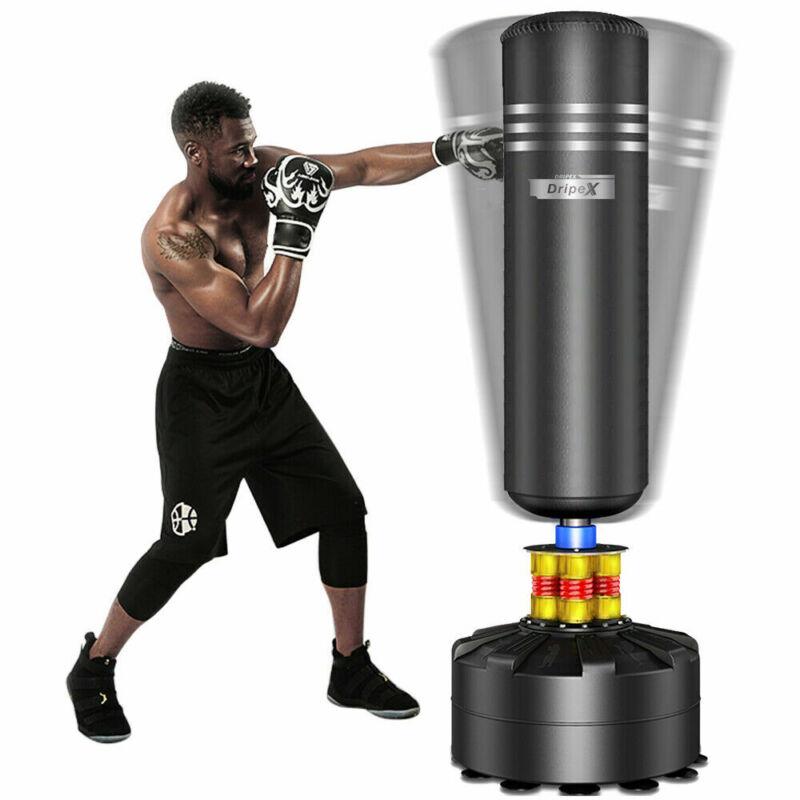 Heavy Boxing Punching Bag Free Standing Cardio Training Kickboxing Adult MMA US