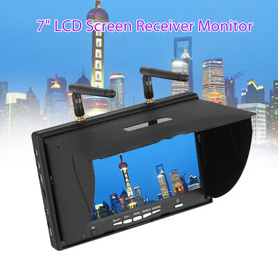 5 8Ghz 40Ch 7  Lcd Screen Dual Diversity Receiver Monitor For Rc Drone Hubsan